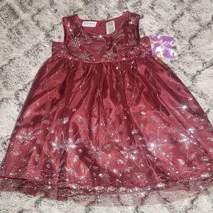 Burgundy Toddler Dress